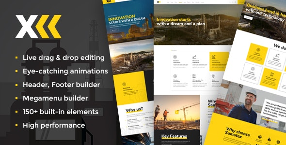 Download Samatex v1.7 – Industrial WordPress Theme + Woocommerce