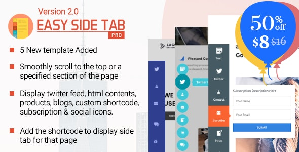 Download Easy Side Tab Pro v2.0.4 – Responsive Floating Tab Plugin For WordPress