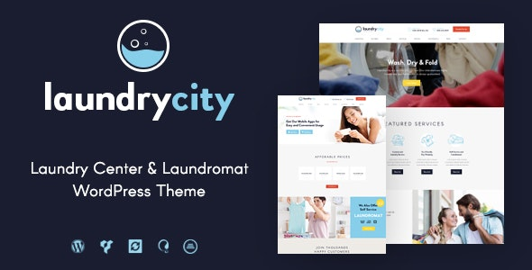 Download Laundry City v1.2.6 – Dry Cleaning & Washing Services WordPress Theme