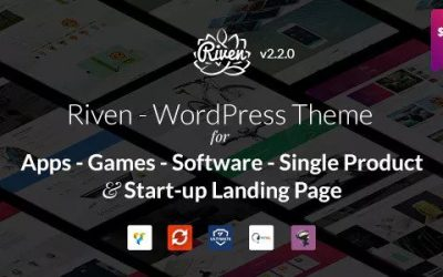 Download Riven v2.3.1 – WordPress Theme for App, Game, Single Product Landing Page