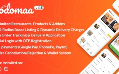 Download Foodomaa v1.6 – Multi-restaurant Food Ordering, Restaurant Management and Delivery Application