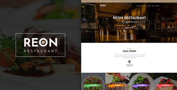 Download Reon v1.1.0 – Restaurant WordPress Theme