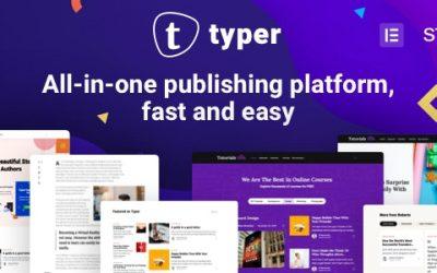Download Typer v1.3.0 – Amazing Blog and Multi Author Publishing Theme